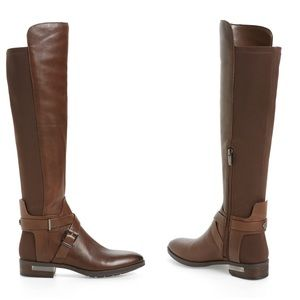 NEW! Vince Camuto Brown Leather Over The Knee Boot